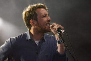 SALISBURY, ENGLAND - AUGUST 29:  Robin Pecknold of the band Gene Clark - No Other Band performs on stage at End Of The Road Festival 2014 at Larmer Tree Gardens on August 29, 2014 in Salisbury, United Kingdom.  (Photo by Andy Sheppard/Redferns via Getty Images)