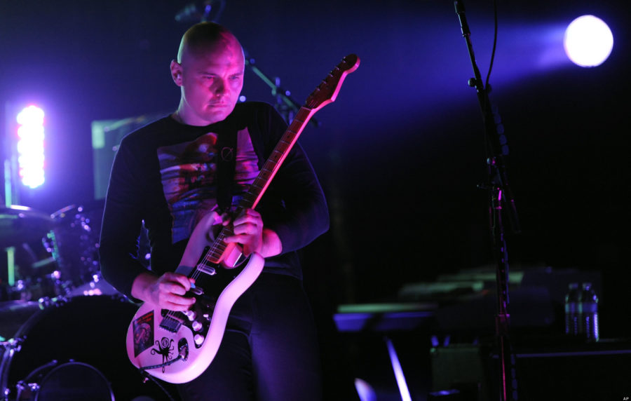 Billy Corgan of The Smashing Pumpkins performs during the band's concert at the Wiltern Theater in Los Angeles, Wednesday, Oct. 5, 2011. (AP Photo/Chris Pizzello)